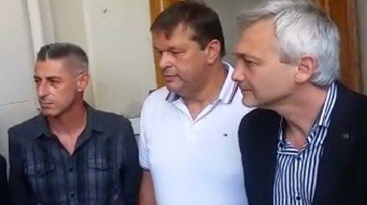 Por el lado de Newells estuvieron el vice segundo Cristian DAmico y el  secretario Juan José Concina