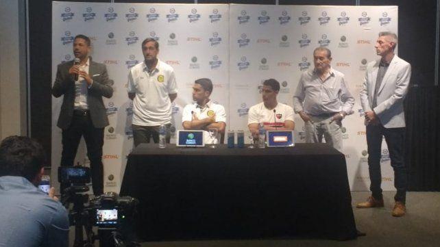 Caruzzo y Aguerre se juntaron por un clásico en la paz en la previa del choque Newells y Central