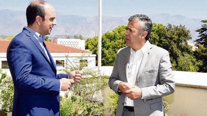 Corral y Cornejo compartieron un encuentro en tierra mendocina.
