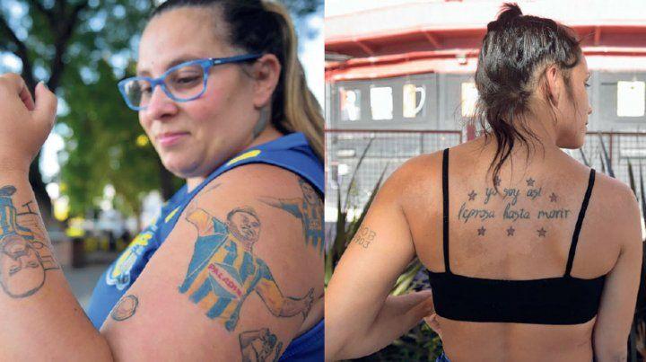 Los hinchas leprosos y canallas unidos en la pasión por los tatuajes