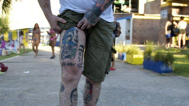 Willy Luna. Tatuador e hincha incondicional.