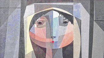 Gesto. Una de las obras exhibidas, La espera de Mec, de 1956.