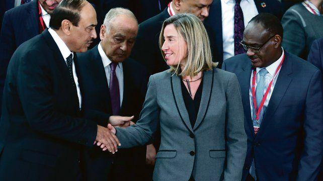 Difícil Misión. La jefa de la diplomacia europea anunció que el grupo de contacto volverá a reunirse en marzo.