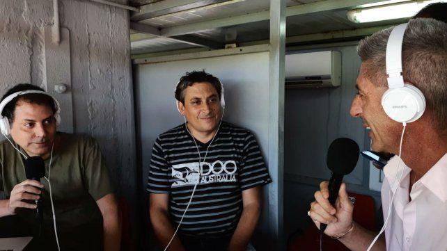 DAmico conversa con los periodistas de La Capital y La Ocho en el Coloso
