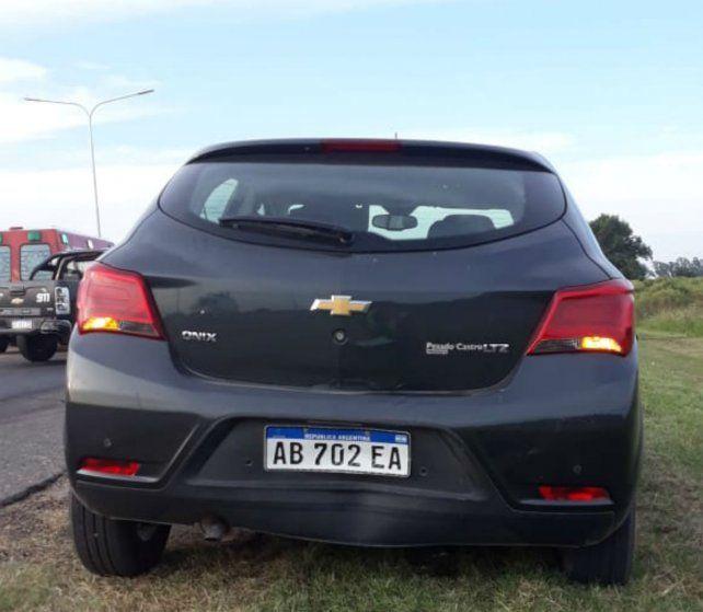 Otro de los autos que chocó el ladrón.