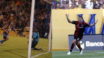 2005. Con gol de Pirulo Rivarola, Central eliminó a Newells de la Sudamericana. 2016. Con grito de Maxi Rodríguez a los 93, la Lepra festejó en el Gigante de Arroyito.