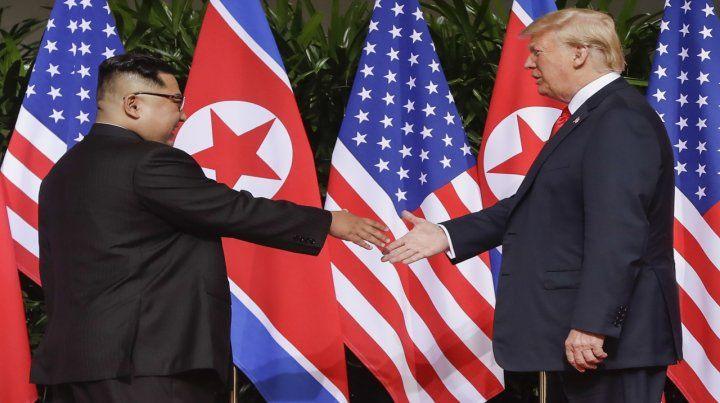 La primera vez. Los dos jefes de Estado se reunieron el 12 de junio pasado en Singapur.