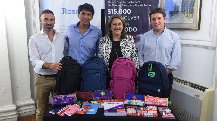 La intendenta Mónica Fein lanzó hoy el programa Precios Justos - Vuelta al Cole.
