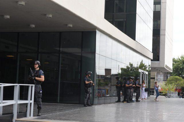 La audiencia imputativa de Esteban Alvarado se realizó bajo medidas de seguridad extremas.