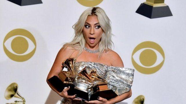 Lady Gaga. Tras ganar tres estatuillas