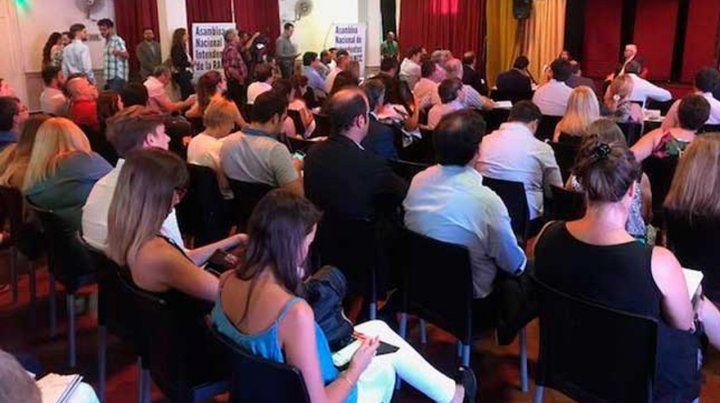 Asamblea en San Lorenzo el 14 de marzo