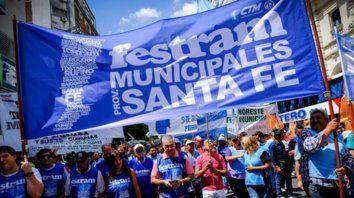 Trabajadores en alerta. La dirigencia de los municipales sostuvo que se espera un mes de marzo muy complicado.