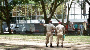 alerta y evacuados por una fuga de gas en rivadavia y balcarce