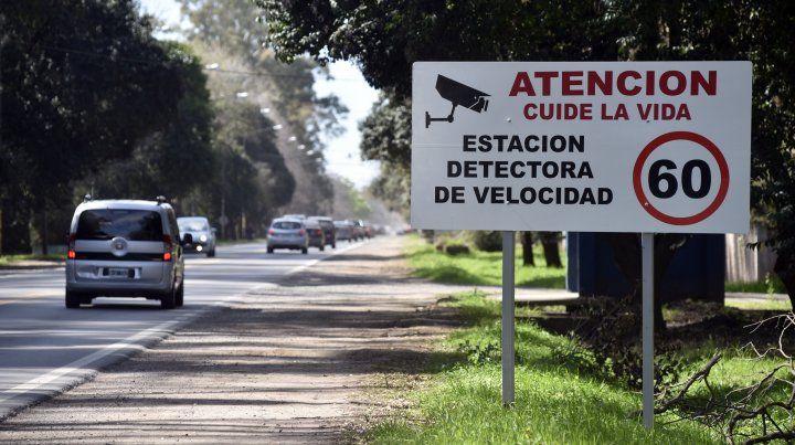 Los radares en las rutas santafesinas están homologados y están señalizados.