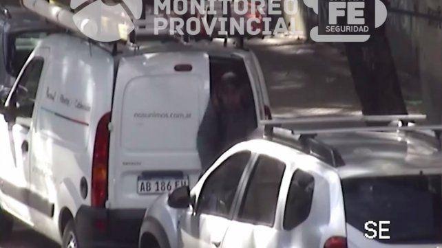 Robó herramientas de una camioneta y quedó registrado en un video