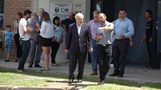 El gobernador sale del club San Martín