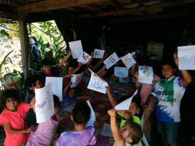 Ojitos felices. El merendero donde asisten chicos de zonas carenciadas de Villa Gobernador Gálvez.