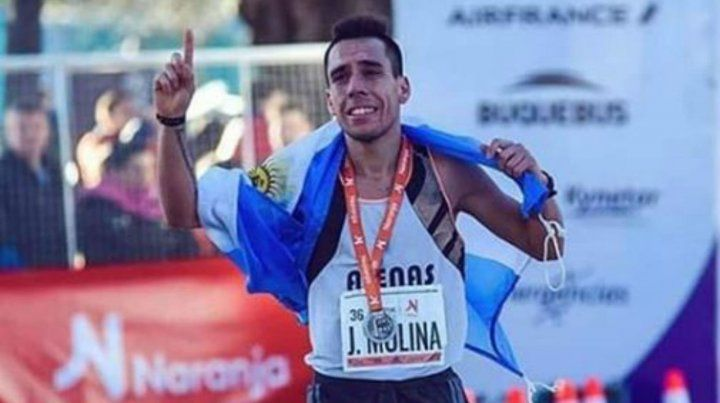 Juan Molina viene de marcar el mejor registro argentino en la media maratón de Buenos Aires.