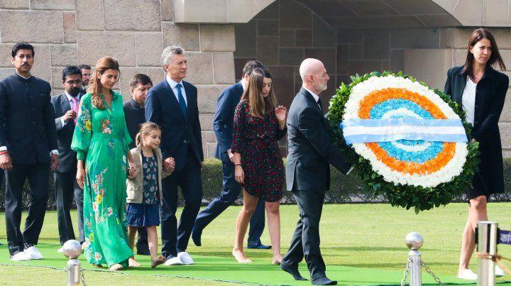 Macri rindió homenaje al Mahatma Gandhi
