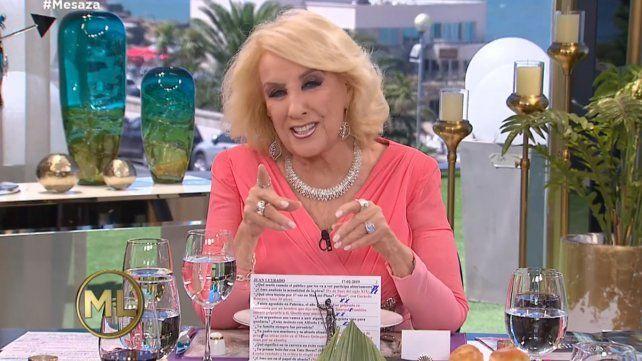 Mirtha reveló el pedido que le hizo a Laurita Fernández