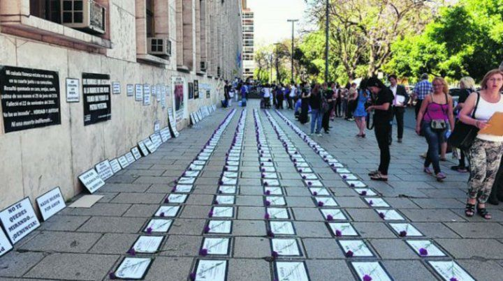 Una de las tantas manifestaciones contra la violencia de género.