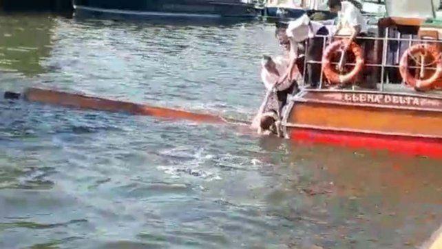 Murió la mujer atropellada cuando hacía kayak en el Tigre