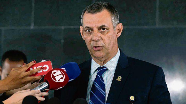 Anuncio. El portavoz del gobierno brasilero