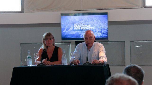 candidatos. Antonio Bonfatti y Verónica Irizar quieren potenciar el perfil productivo de la ciudad.