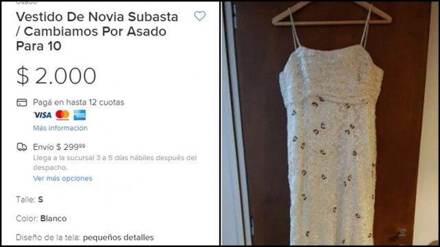Se divorció y canjea el vestido de novia por un asado para diez amigos