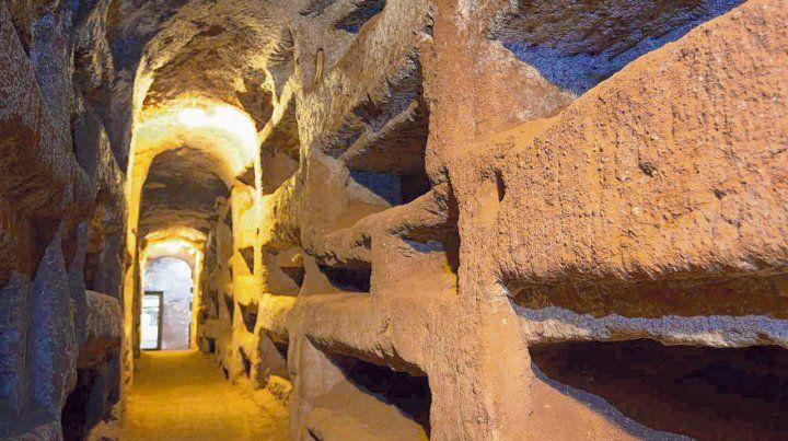 Tenebrosas. Sólo cinco de las catacumbas romanas están hoy en día abiertas al público: San Calixto