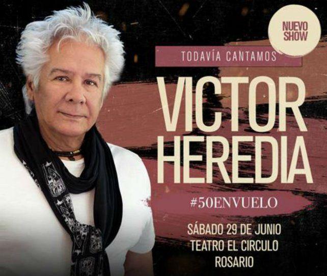 Heredia tocará en El Círculo.