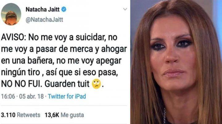 Mensaje. El tuit que escribió luego de sus denuncias por abusos sexuales a chicos de Independiente.