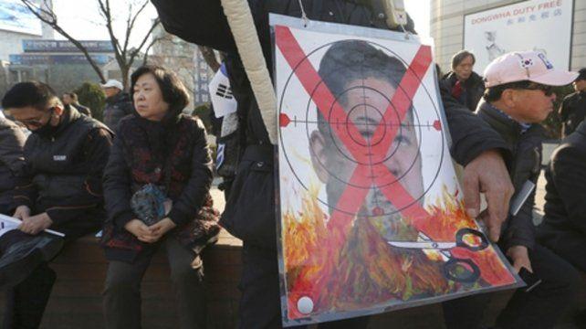 Repudio. En Seúl ayer había marchas de rechazo al dictador norcoreano.