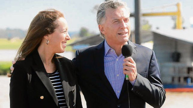Juntos. Vidal y Macri inauguraron obras en arroyo El Gato.