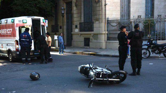 El siniestro se produjo en la esquina de Moreno y Córdoba.