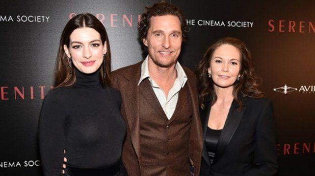 estrellas. Los protagonistas junto a Diane Lane en el estreno en Nueva York.