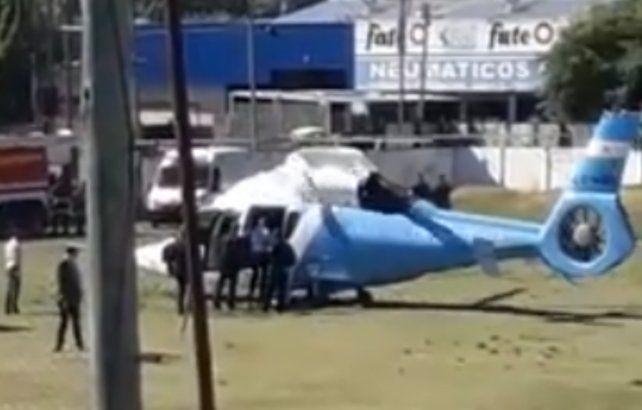 El presidente Mauricio Macri descencendó en helicóptero en un club de barrio Belgrano.