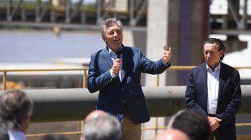 Barranca. A pleno sol y sólo frente a empresarios y políticos, Macri dijo que estamos mejor parados que en 2015.