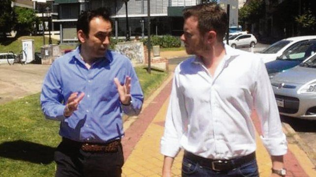 Francisco Quintana se reunió ayer en Rosario con Roy López Molina.