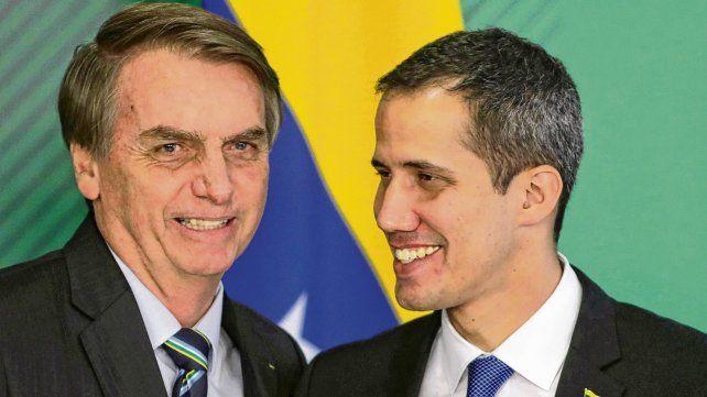 Concordancia. Bolsonaro recibió a Guaidó con honores de jefe de Estado.