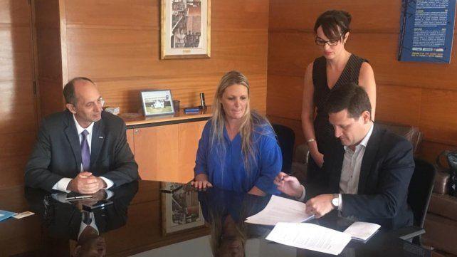 Alianza estratégica. Verónica Geese y Maximiliano Neri en la firma.