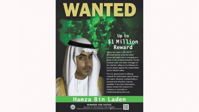 Buscado. Hamza Bin Laden.