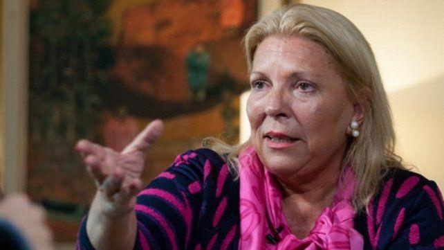 Carrió dijo que recorrerá el país defendiendo las políticas del gobierno.