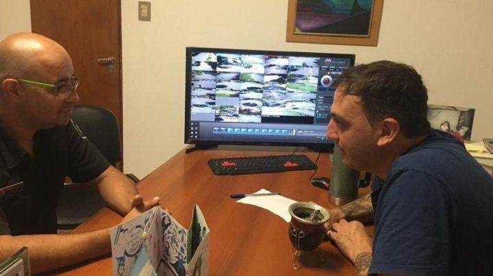 En pantalla. El comisario Karami y el jefe comunal Sebastianelli