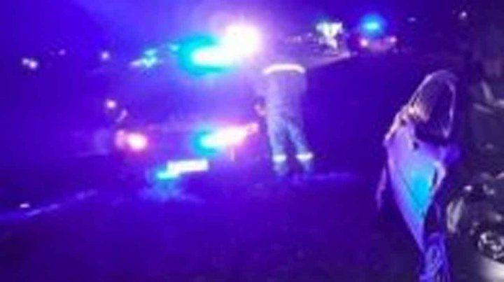 Una anciana murió al volcar el auto en el que viajaba en la autopista