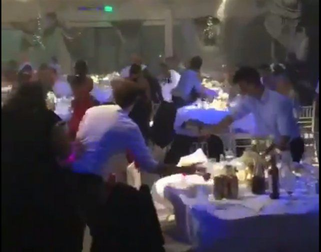 Pánico en una fiesta de casamiento por el fuerte temporal