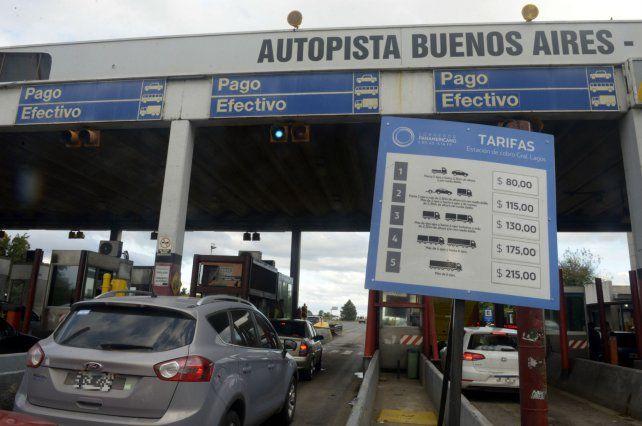 El peaje en la autopista a Buenos Aires pasó de 55 a los 80 pesos este domingo.