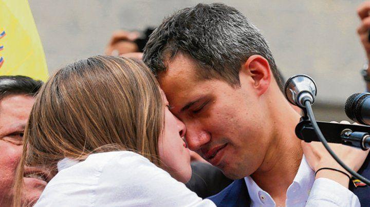 Conmovidos. Guaidó y su esposa