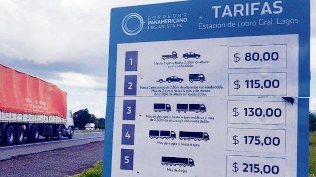 Nuevas tarifas. Las cifras del peaje de General Lagos causan indignación.