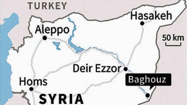 El territorio del califato fue reducido desde 2014